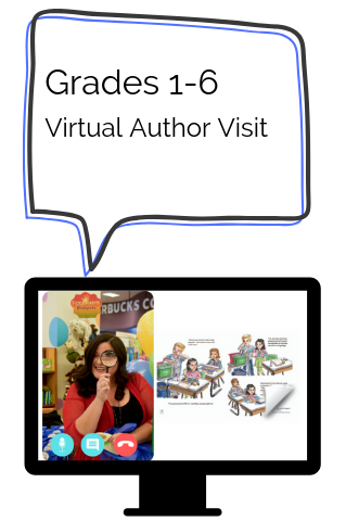 Virtual Author visits with Miriam Laundry: Have Miriam visit your classrooms through the magic of the internet for an engaging book reading with a positive message.